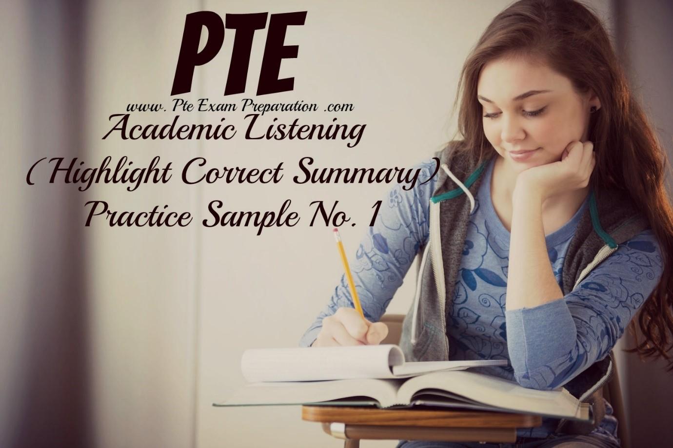 highlight correct summary آزمون پی تی ای - کالج آریام