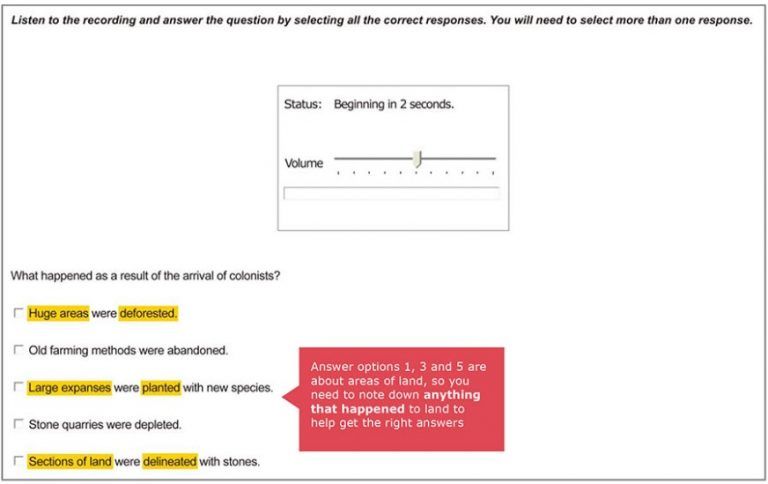 Multiple Choice, Multiple answer - listening PTE